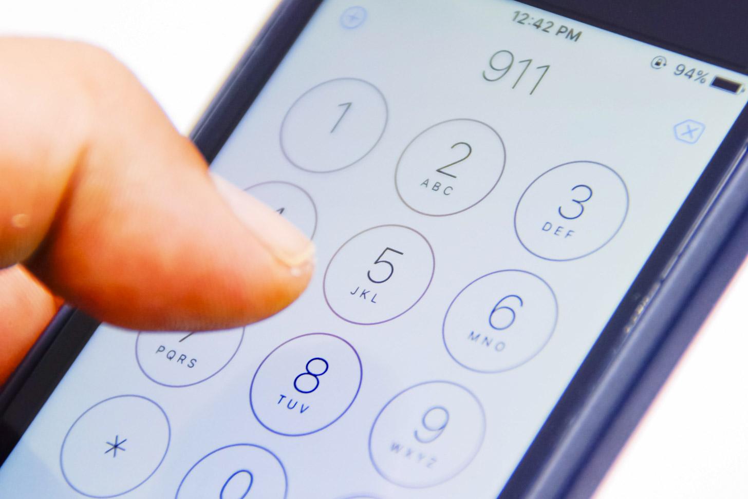 In geval van nood: bel 911
