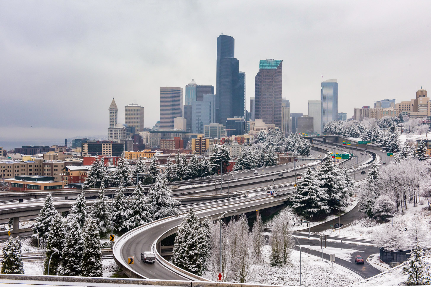 Sneeuw in Seattle