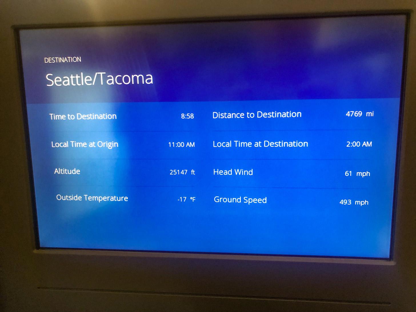 vliegen naar Seattle